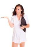 Doktoremotie op witte achtergrond wordt geïsoleerd die Royalty-vrije Stock Foto