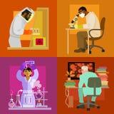 Doktoren arbeiten im Labor Wissenschaftskonzeptsatz vektor abbildung