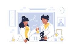 Doktoren, die am Labor arbeiten stock abbildung