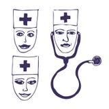 Doktoren. Drei Ikonengesichter Lizenzfreie Stockfotografie