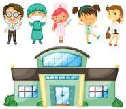 Doktoren und Krankenschwestern am Krankenhaus Lizenzfreies Stockfoto