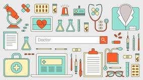 Doktorer och sjukvård vektor illustrationer