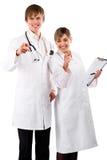 doktorer som pekar dig Arkivbild
