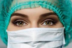 Doktorers ögon Fotografering för Bildbyråer