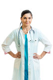 Doktorfrau getrennt auf Weiß lizenzfreies stockbild