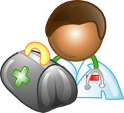 Doktorkarriereikone oder -symbol Lizenzfreie Stockbilder