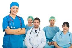 Doktorlehrer mit Kursteilnehmern Lizenzfreie Stockfotos