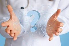 Doktorn avgör komplexa och invecklade frågor Arkivfoto