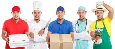 Doktorn för yrket för utbildning för ockupationockupationutbildning lagar mat gruppen av jobbet för den ungdomardet latinska mann royaltyfri foto
