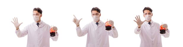 Doktorn i begrepp för bloddonation som isoleras på vit royaltyfria foton