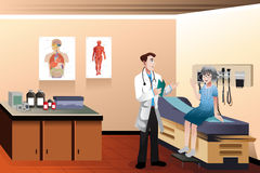 Doktorpatient in der Klinik Lizenzfreies Stockbild