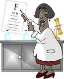 doktorsögonkvinnlig vektor illustrationer