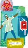 Doktors- och blodservice Vektor Illustrationer