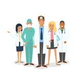 Doktors- och kirurguppsättning stock illustrationer