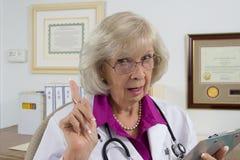Doktors Varning eller rådgivning Arkivbild