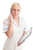 doktorscy pielęgniarki telefonu potomstwa Obrazy Stock