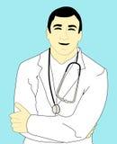 doktorsillustrationläkarundersökning Arkivbild