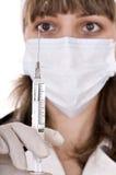 doktorsinjektionssprutavaccination Royaltyfria Foton