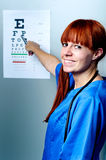 doktorska żeńska okulistka Fotografia Royalty Free