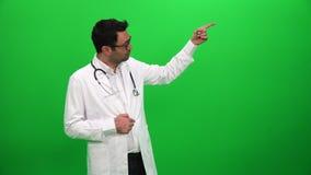 Doktorska daje prezentacja zielony parawanowy tło zbiory