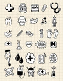 doktorska doodle remisu elementu ręka Royalty Ilustracja