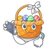 Doktorska Easter koszykowa piłka w kreskówka kształcie ilustracji