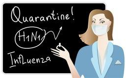 doktorska grypa ostrzega ilustracja wektor
