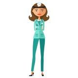 Doktorska kobieta w medycznej todze z stetoskopu wektoru ilustracją Obraz Stock