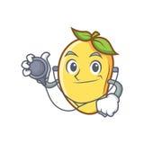 Doktorska mangowa charakter kreskówki maskotka Zdjęcie Stock