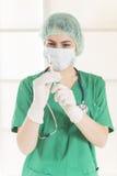 doktorska medyczna strzykawka Fotografia Royalty Free