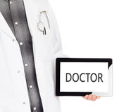 Doktorska mienie pastylka - lekarka obraz royalty free