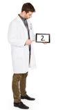 Doktorska mienie pastylka - liczba 2 zdjęcie royalty free