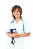 doktorski żeński stetoskop Obraz Stock
