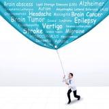 Doktorski ciągnięcie sztandar móżdżkowe choroby zdjęcia stock