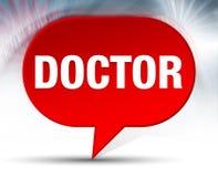 Doktorski Czerwony bąbla tło ilustracja wektor