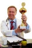 doktorski dumny trofeum zdjęcie royalty free