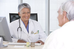 doktorski żeński pacjent Obrazy Royalty Free