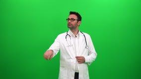 Doktorski gmeranie i używać dotyka ekran zbiory