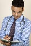 doktorski indyjski raportowy writing Obraz Royalty Free