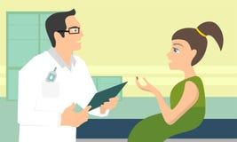 Doktorski mężczyzna i dziecka dziewczyny pacjent - ciie jej palec Medyczny pojęcie w mieszkaniu Zdjęcie Stock