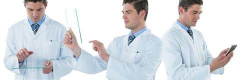 Doktorski mężczyzna kolaż Fotografia Stock