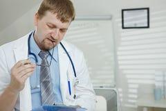 doktorski męski działanie Obraz Stock