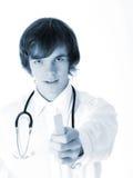 Doktorski mienia jęzoru depressor zdjęcie royalty free