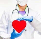 Doktorski mienie czerwieni serce Obraz Stock