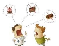 Doktorski opowiadać pacjent no jeść słodkiego jedzenia Zdjęcia Royalty Free