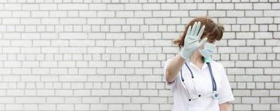 Doktorski pojęcie Zamyka twój twarz z Obrazy Stock