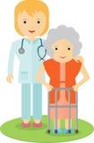 Doktorski pomagać starszej kobiety Obrazy Royalty Free