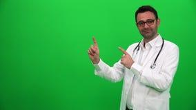 Doktorski Robi Przedstawia gest Z rękami Prawa strona zbiory wideo