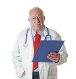Doktorski senior odizolowywający fotografia royalty free