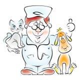 doktorski weterynarz ilustracji